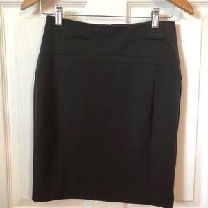 Express dark brown pencil skirt